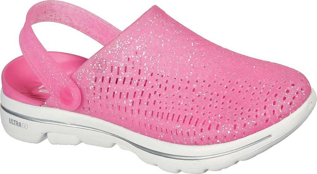 Women's Skechers Foamies GOwalk 5 Ocean Glow Clog, Pink, large, image 1