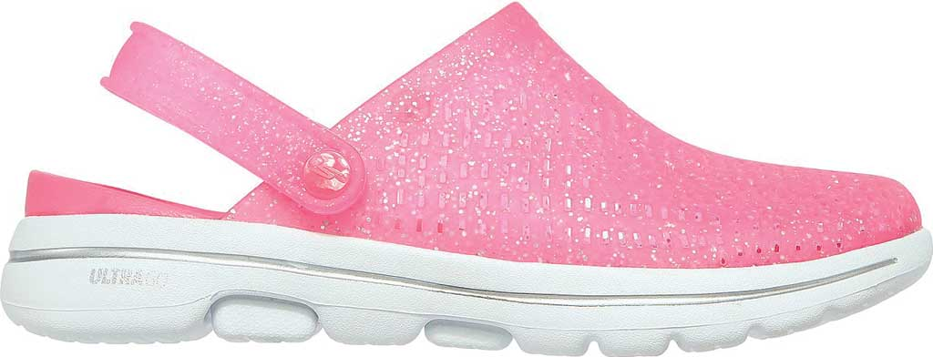 Women's Skechers Foamies GOwalk 5 Ocean Glow Clog, Pink, large, image 2