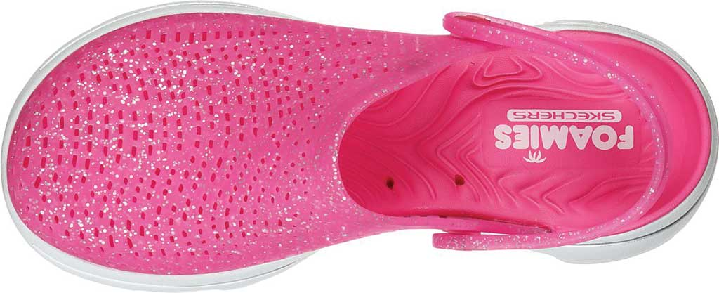Women's Skechers Foamies GOwalk 5 Ocean Glow Clog, Pink, large, image 4