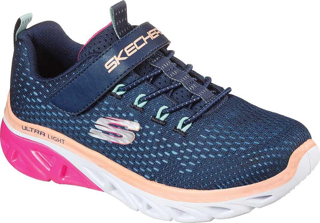 Girls' Skechers Glide Step Sport Sneaker, Navy/Pink, large, image 1