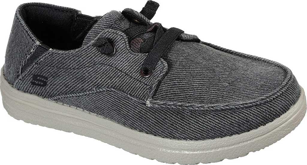 Boys' Skechers Melson Volgo Moc Toe Sneaker, Black, large, image 1