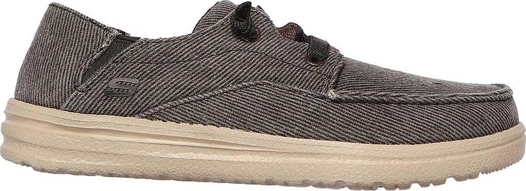 Boys' Skechers Melson Volgo Moc Toe Sneaker, Black, large, image 2