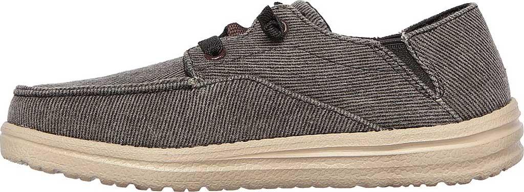 Boys' Skechers Melson Volgo Moc Toe Sneaker, Black, large, image 3