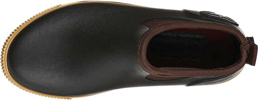 Women's Skechers Work Moltke Moncks Waterproof Chelsea Boot, Brown, large, image 4