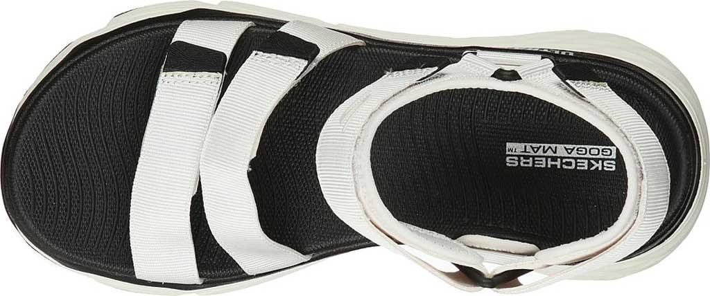 Women's Skechers Max Cushioning Lured Platform Slingback Sandal, White, large, image 4