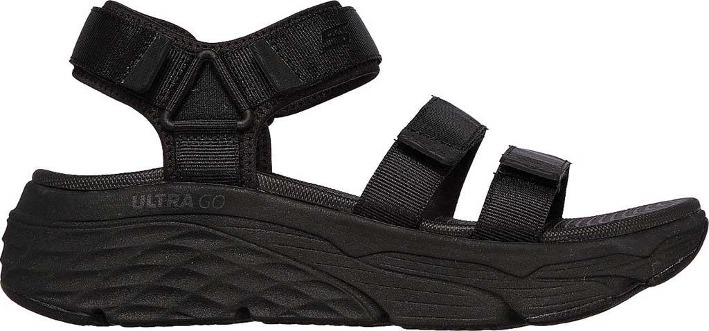 Women's Skechers Max Cushioning Lured Platform Slingback Sandal, Black/Black, large, image 2