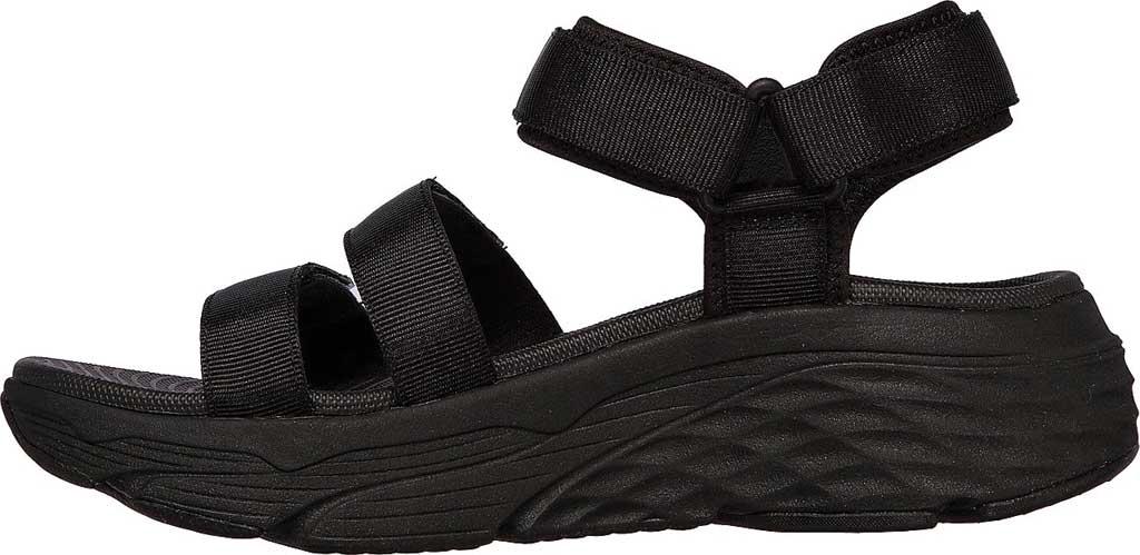 Women's Skechers Max Cushioning Lured Platform Slingback Sandal, Black/Black, large, image 3