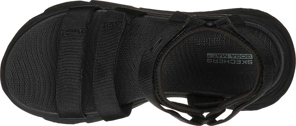 Women's Skechers Max Cushioning Lured Platform Slingback Sandal, Black/Black, large, image 4