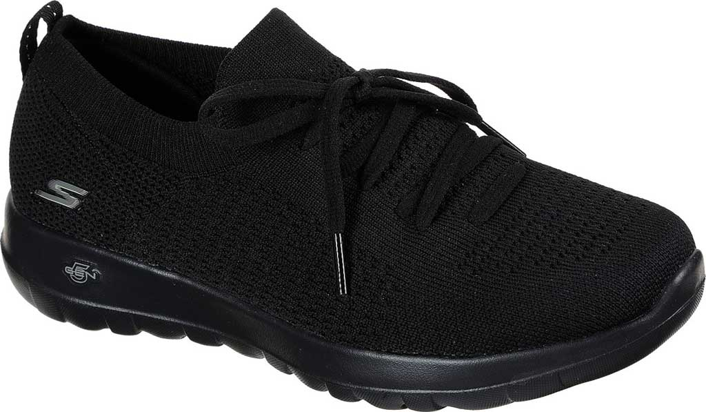 Women's Skechers GOwalk Joy Fresh View Vegan Sneaker, Black/Black, large, image 1