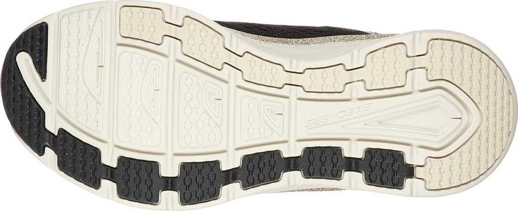 Women's Skechers Relaxed Fit D'Lux Walker Glorious Motion Sneaker, Black/Gold, large, image 5