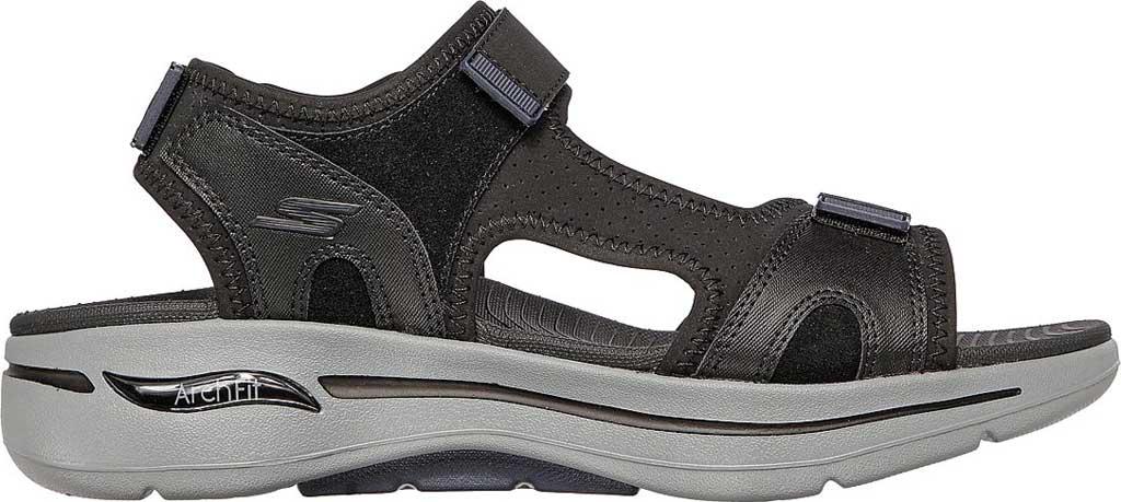 Men's Skechers GOwalk Arch Fit Mission Active Sandal, Black/Navy, large, image 2