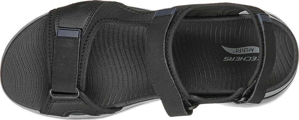 Men's Skechers GOwalk Arch Fit Mission Active Sandal, Black/Navy, large, image 4