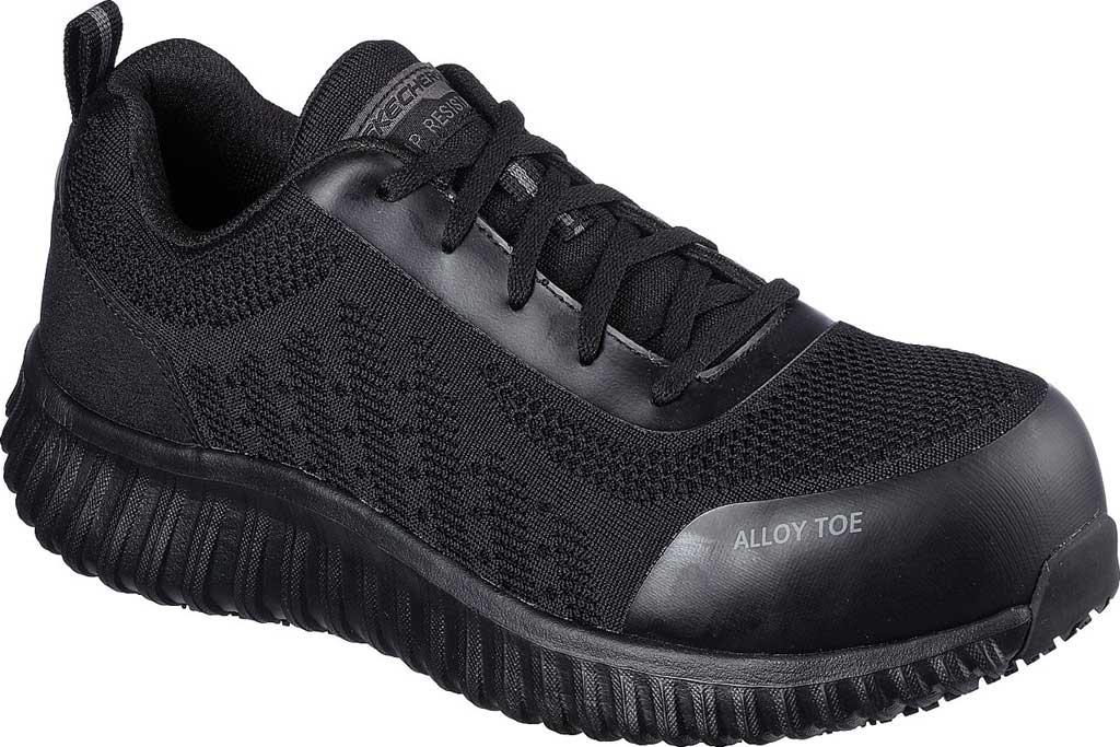 Men's Skechers Work Cicades Taolo ESD Alloy Toe Sneaker, Black, large, image 1