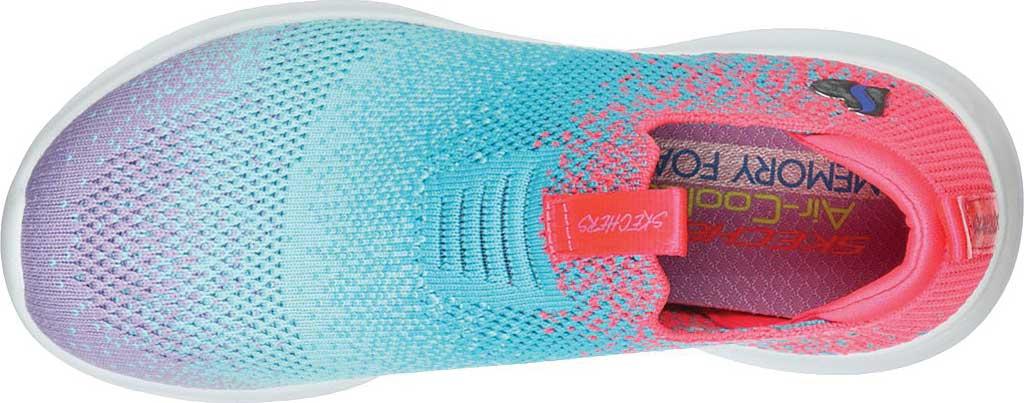 Girls' Skechers Ultra Flex Color Perfect Slip On Sneaker, Coral/Multi, large, image 4