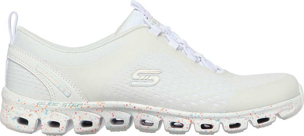 Women's Skechers Glide-Step Classic Sneaker, White/Multi, large, image 2