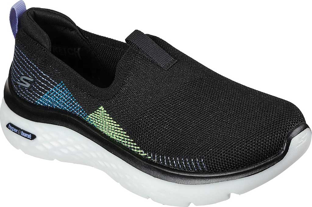 Women's Skechers GOwalk Hyper Burst Vegan Slip On Sneaker, Black/Multi, large, image 1