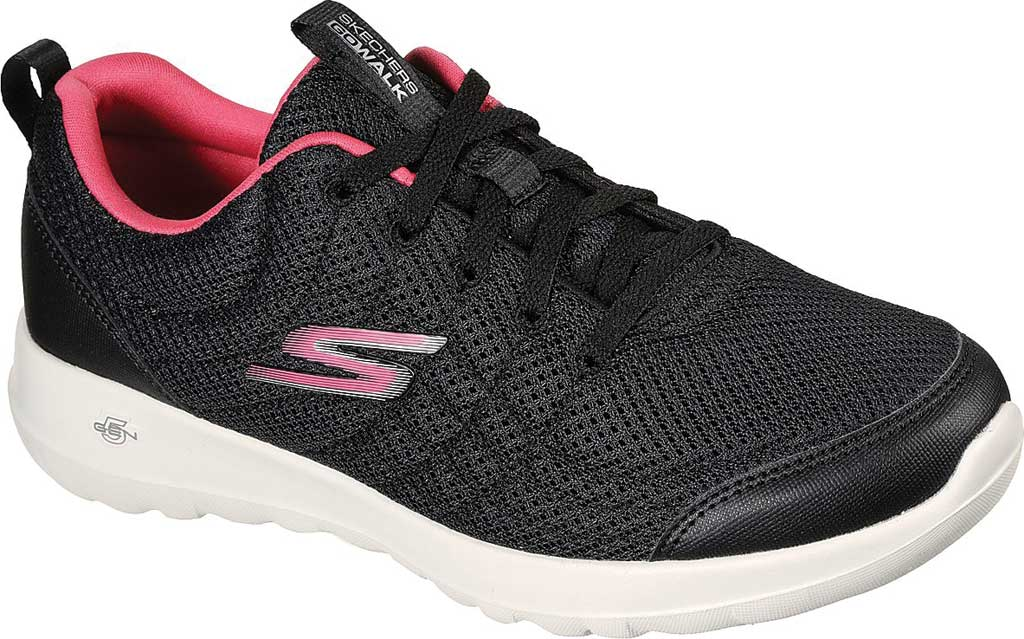 Women's Skechers GOwalk Joy Slip On Sneaker, Black/Hot Pink, large, image 1