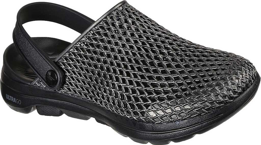 Women's Skechers Foamies: GOwalk 5 Sea Scape Clog, Black/Black, large, image 1