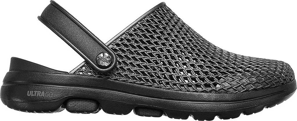 Women's Skechers Foamies: GOwalk 5 Sea Scape Clog, Black/Black, large, image 2