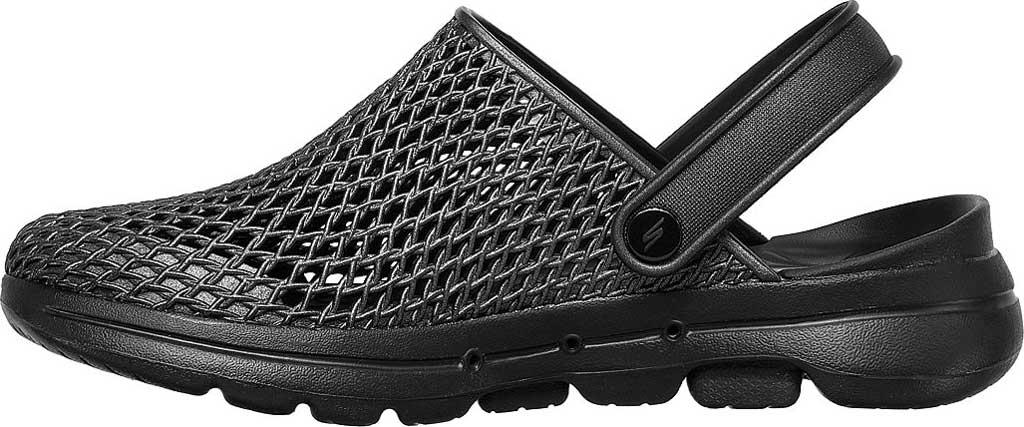 Women's Skechers Foamies: GOwalk 5 Sea Scape Clog, Black/Black, large, image 3