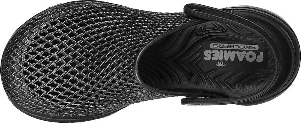 Women's Skechers Foamies: GOwalk 5 Sea Scape Clog, Black/Black, large, image 4