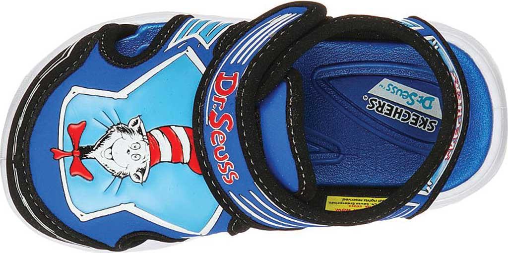 Infant Boys' Skechers Dr. Seuss Hypno Splash Seussverse Close Toe Sandal, Blue/Multi, large, image 4