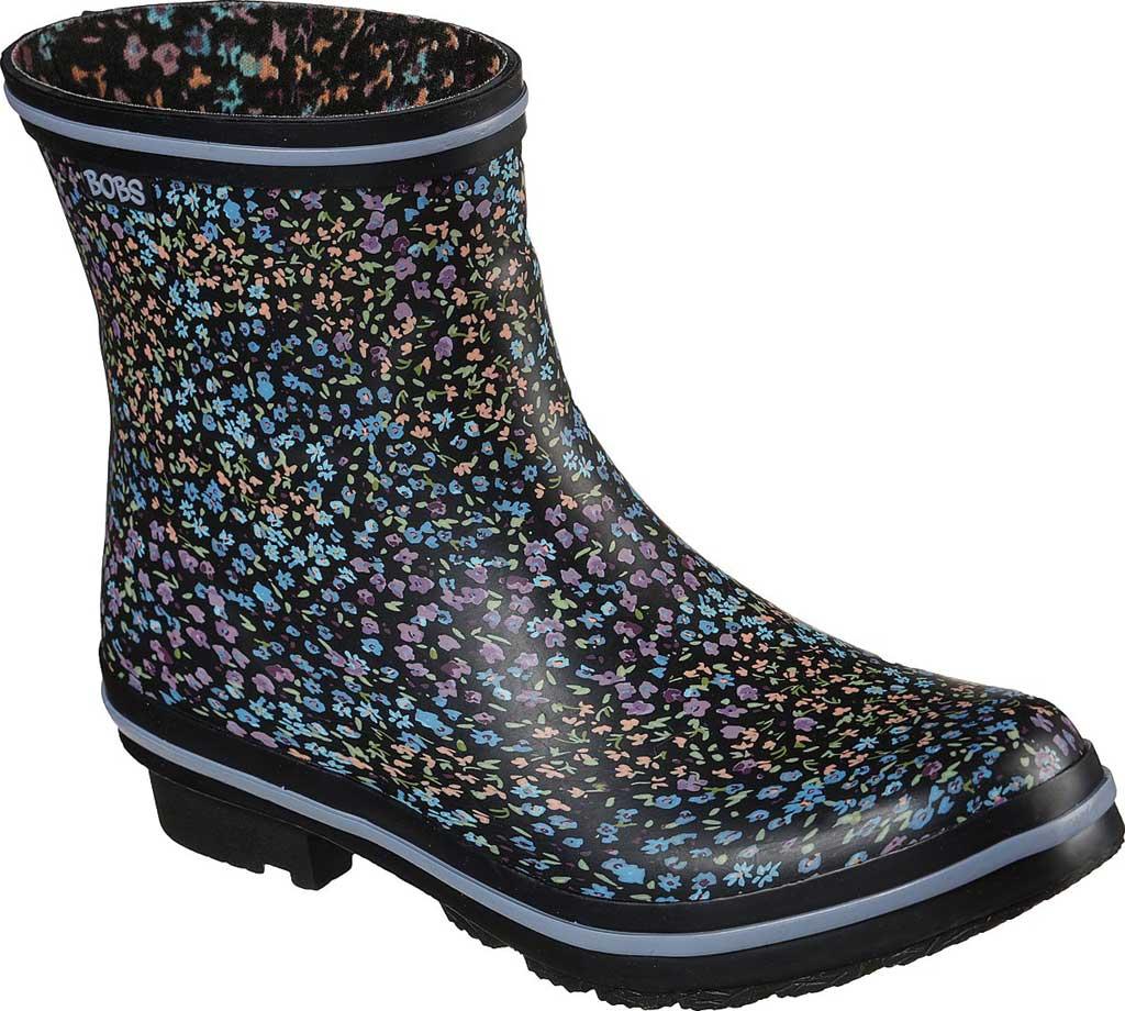 Women's Skechers BOBS Rain Check Petal Splash Waterproof Boot, Black/Multi, large, image 1