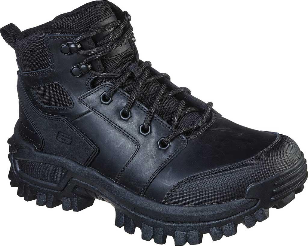 Men's Skechers Relaxed Fit Trekson Grapel Hiking Boot, Black/Black, large, image 1