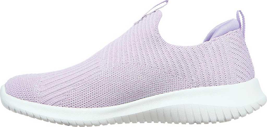 Girls' Skechers Ultra Flex Absolute Shine Slip On Sneaker, Lavender, large, image 3