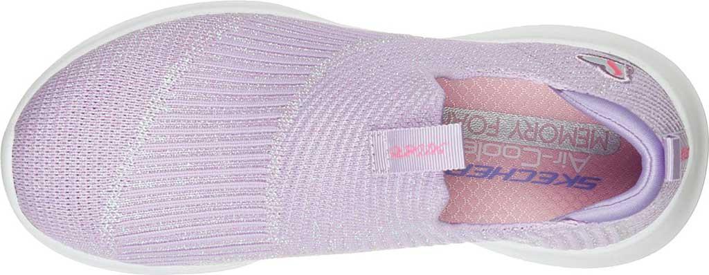 Girls' Skechers Ultra Flex Absolute Shine Slip On Sneaker, Lavender, large, image 4