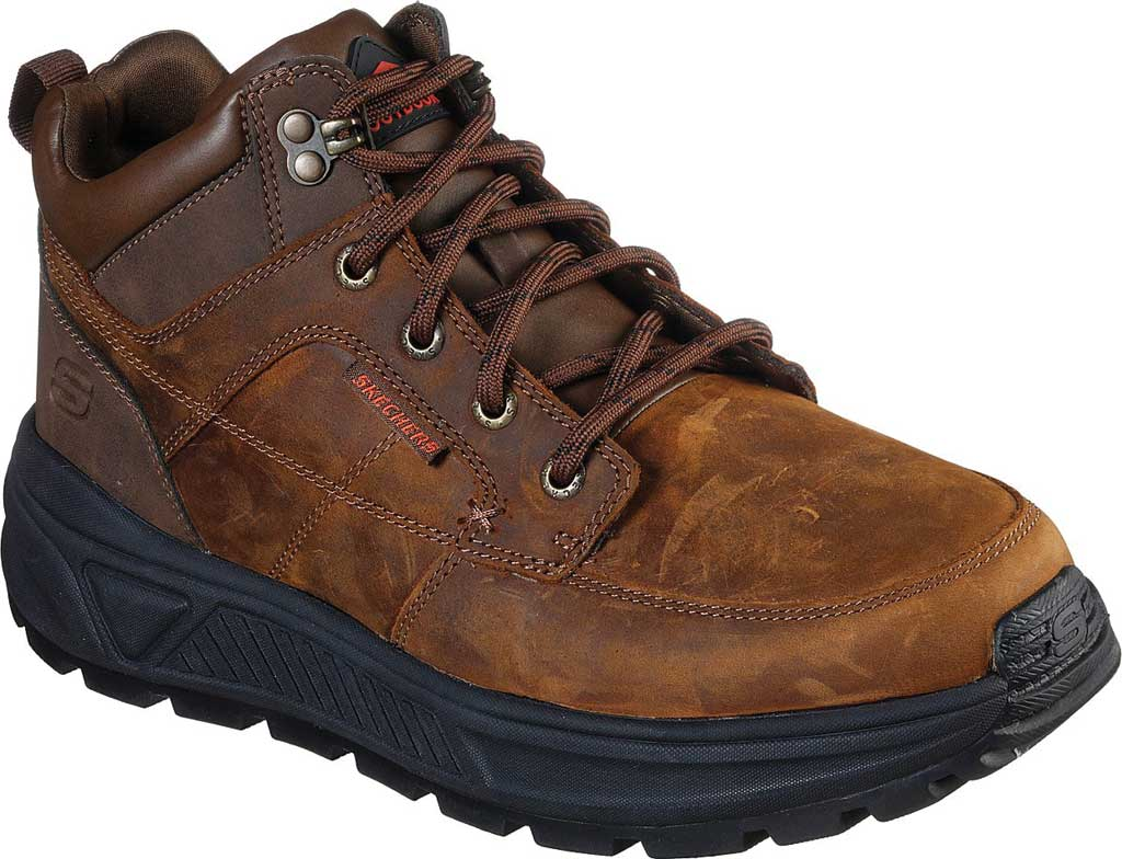 Men's Skechers Relaxed Fit Folsten Doramo Ankle Boot, Chocolate Dark Brown, large, image 1