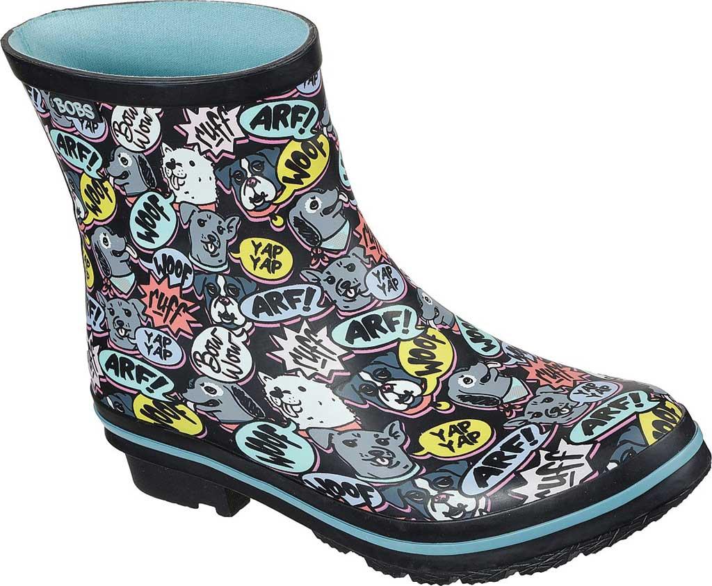 Women's Skechers BOBS Rain Check Super Woof Waterproof Boot, Black/Multi, large, image 1