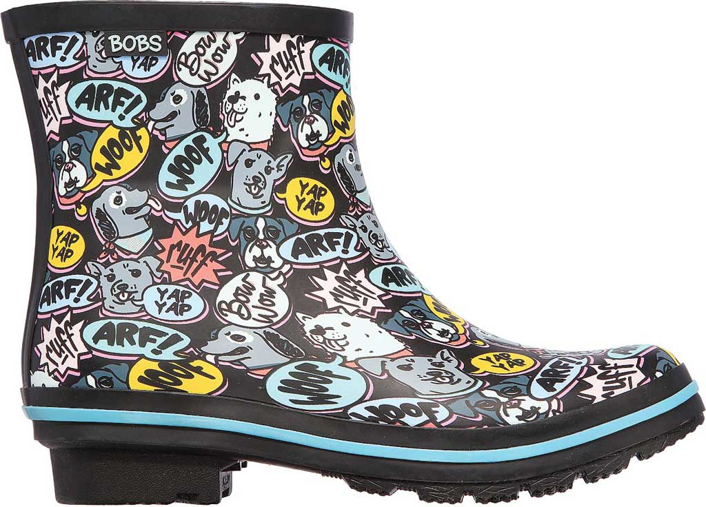 Women's Skechers BOBS Rain Check Super Woof Waterproof Boot, Black/Multi, large, image 2