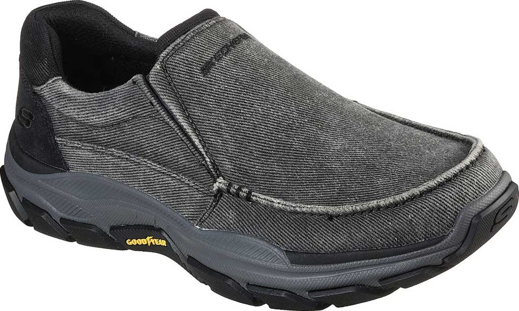 Men's Skechers Relaxed Fit Respected Vergo Slip On Sneaker, Black, large, image 1