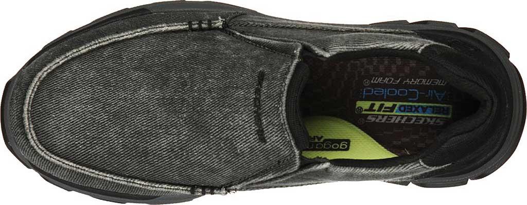Men's Skechers Relaxed Fit Respected Vergo Slip On Sneaker, Black, large, image 4