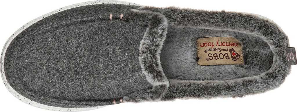 Women's Skechers BOBS Skipper Wild Wooly Clog Slipper, Gray, large, image 4
