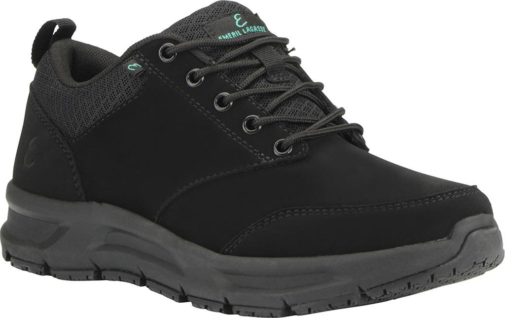 Women's Emeril Lagasse Footwear Quarter Work Shoe, Black Leather, large, image 1