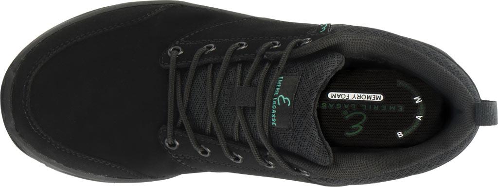 Women's Emeril Lagasse Footwear Quarter Work Shoe, Black Leather, large, image 6