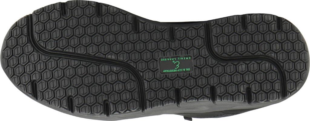 Women's Emeril Lagasse Footwear Quarter Work Shoe, Black Leather, large, image 7