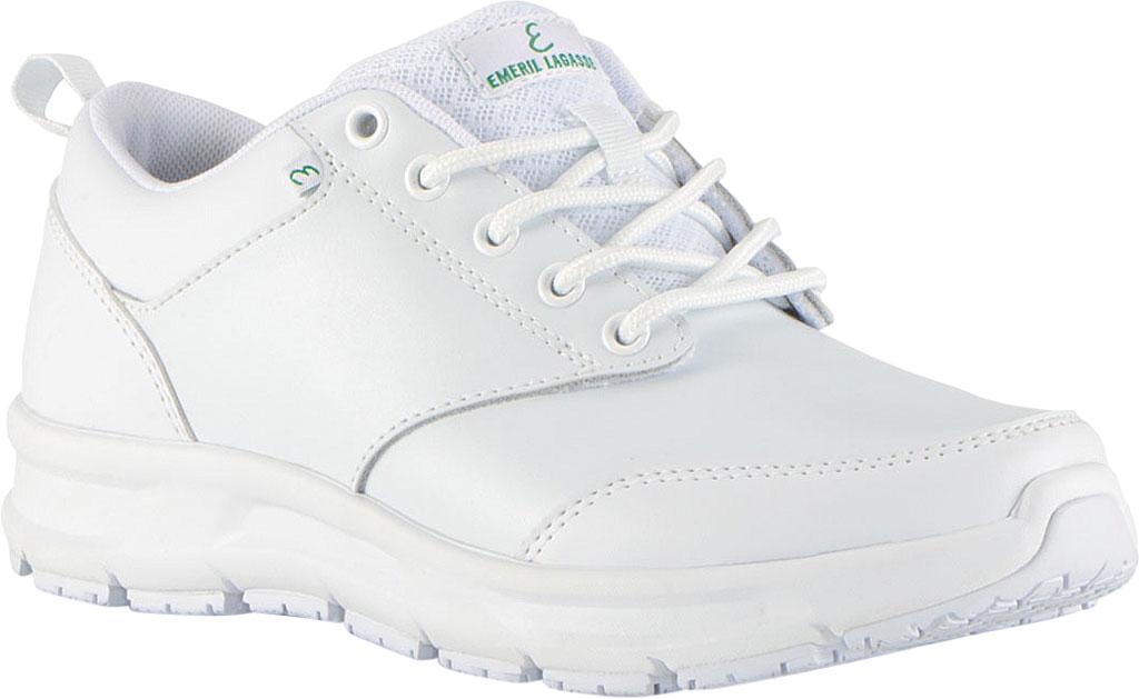 Women's Emeril Lagasse Footwear Quarter Work Shoe, White Smooth Leather, large, image 1