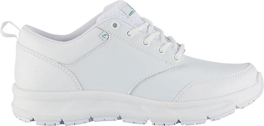 Women's Emeril Lagasse Footwear Quarter Work Shoe, White Smooth Leather, large, image 2