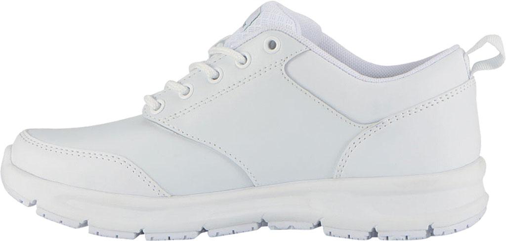 Women's Emeril Lagasse Footwear Quarter Work Shoe, White Smooth Leather, large, image 3