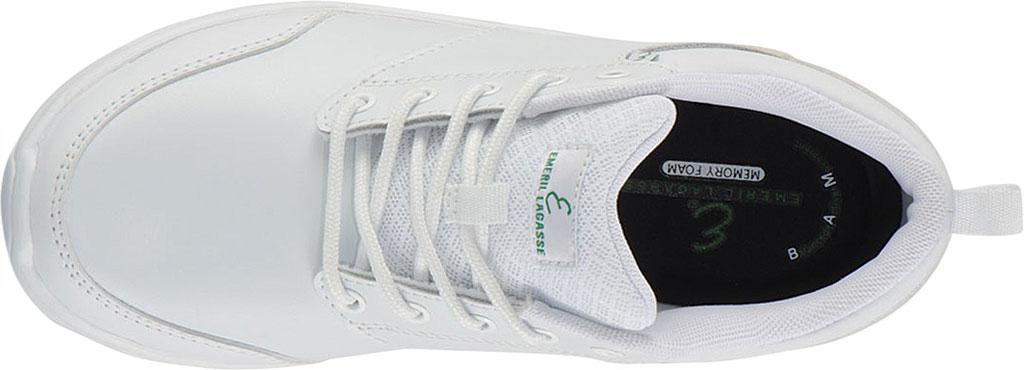 Women's Emeril Lagasse Footwear Quarter Work Shoe, White Smooth Leather, large, image 5