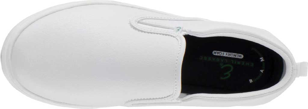 Women's Emeril Lagasse Footwear Royal EZ-Fit Slip-On Sneaker, White Tumbled Leather, large, image 5