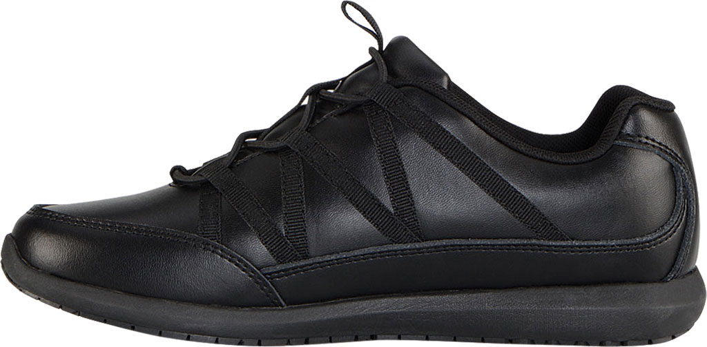 Women's Emeril Lagasse Footwear Miro EZ-Fit Slip-On Work Sneaker, Black Leather, large, image 3