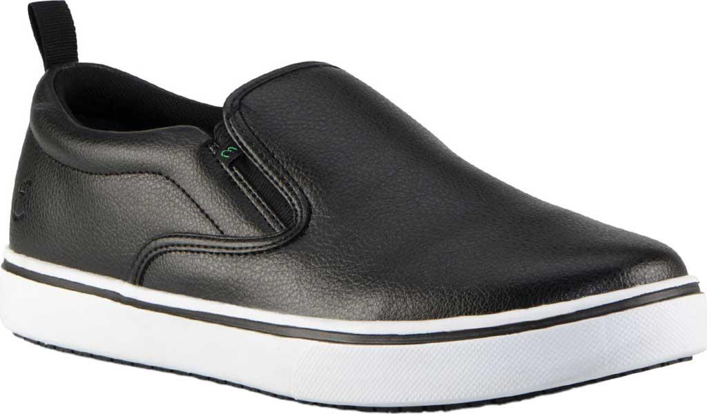 Men's Emeril Lagasse Footwear Royal Tumbled EZ-Fit Slip On Sneaker, Black/White Tumbled Leather, large, image 1