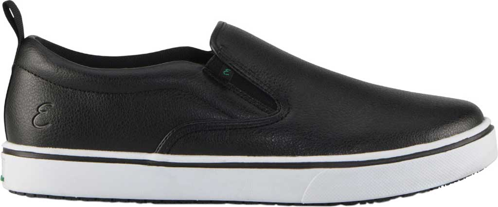 Men's Emeril Lagasse Footwear Royal Tumbled EZ-Fit Slip On Sneaker, Black/White Tumbled Leather, large, image 2