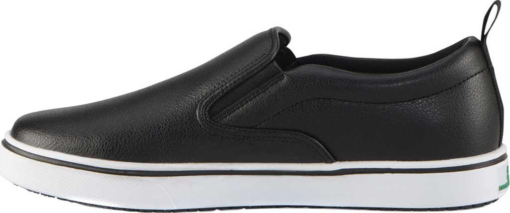 Men's Emeril Lagasse Footwear Royal Tumbled EZ-Fit Slip On Sneaker, Black/White Tumbled Leather, large, image 3