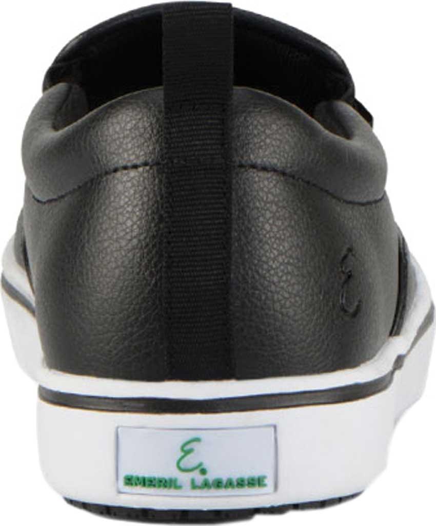 Men's Emeril Lagasse Footwear Royal Tumbled EZ-Fit Slip On Sneaker, Black/White Tumbled Leather, large, image 4