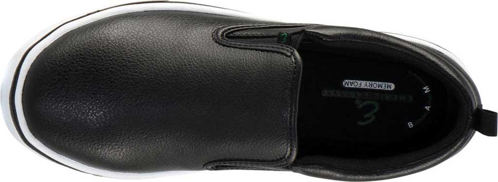 Men's Emeril Lagasse Footwear Royal Tumbled EZ-Fit Slip On Sneaker, Black/White Tumbled Leather, large, image 5